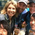 Lani, Stu & Finchy with Kei & Moi Nishikori