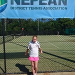 Sophie at State Tennis